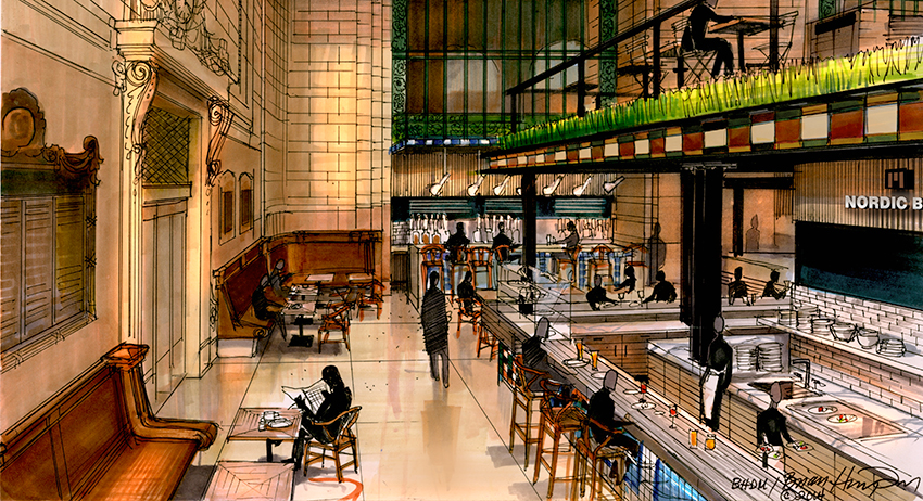 This is what we can expect to see in the Vanderbilt Hall at New York's Grand Central Terminal