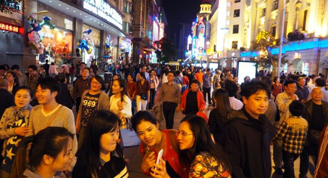 Nanjing Road, is the number one street for luxury shopping. Photo: Björn Lundström