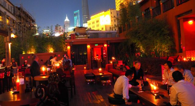 Lost Heaven close to The Bund is one of my favorite restaurants. Excellent food, stylish terrace with good music. When it's warm the terrace is a perfect place. Photo: Björn Lundström