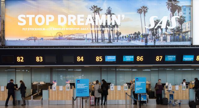 SAS now offers direct flights Stockholm - Los Angeles.