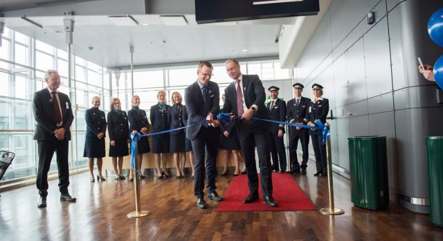 ... and a ribbon must be cut! Time for take off.