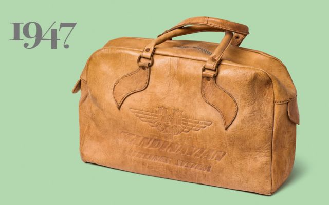 1947: The original SAS cabin bag came in leather. Photo: Jann Lipka