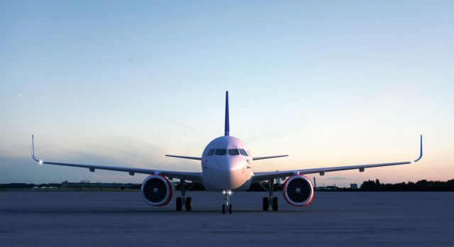SAS' new A320neo - a big part of the new fleet. Photo: Airbus