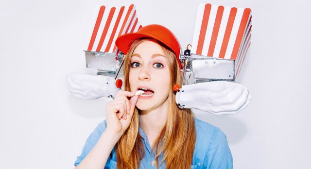 Inventor Simone Giertz calls herself an expert in shitty robots. Photo: Alba Giertz