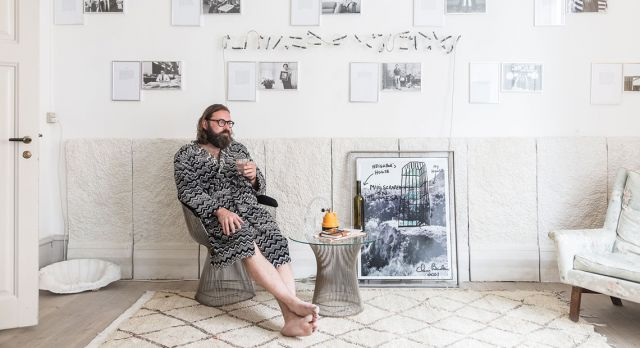 Peter Amby owns Last Resort Gallery in Copenhagen. Photo: Sarah Coghill