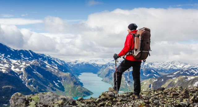Besseggen in Jotunheimen – one of Norway's most popular hiking areas. Photo: Shutterstock