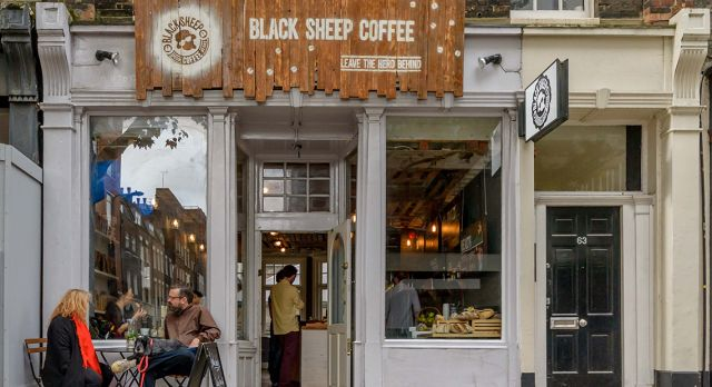 At Black Sheep customers can pay for an extra coffee that will be given to someone who can't afford to pay for one.