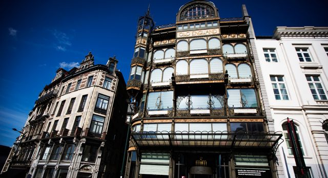 Old England's characteristic iron façade, built in 1899, is a wonderful example of Art Nouveau in Brussels. Photo: Bea Uhart