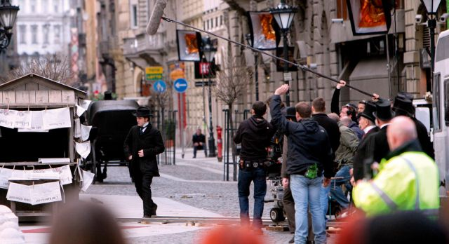 Actor Robert Pattinson on the set of Bel Ami in Budapest, Hungary. Photo: Shutterstock