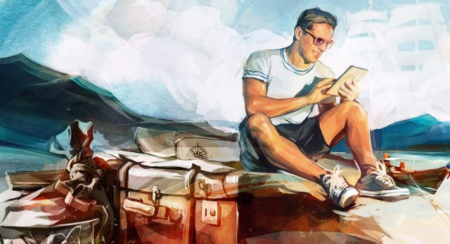 A true digital nomad doesn´t need an office space. Illustration: Viktor Miller Gausa