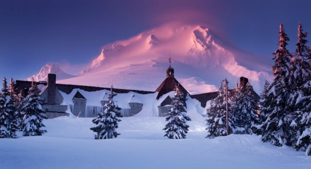 Here's Johnny! Or at least Johnny was here, at Timberline Lodge Photo: DS IMAGERY