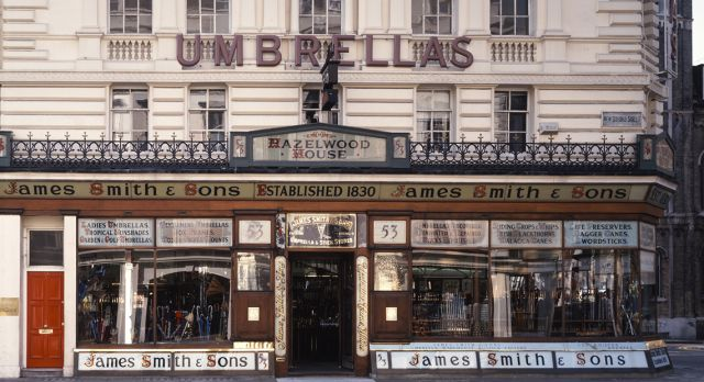 James Smith & Sons umbrella shop. Photo: Christine Wehrmeier