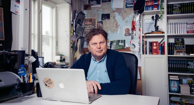Unlike many fictional detectives, Jørn Lier Horst did want a desk job, and he turned full-time author in 2013. Photos: Jeton Kacaniku
