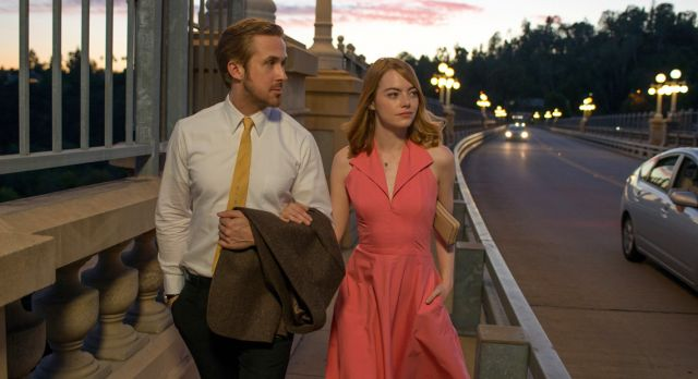 Emma Stone and co-star Ryan Gosling in La La Land. Photo: GettyImages