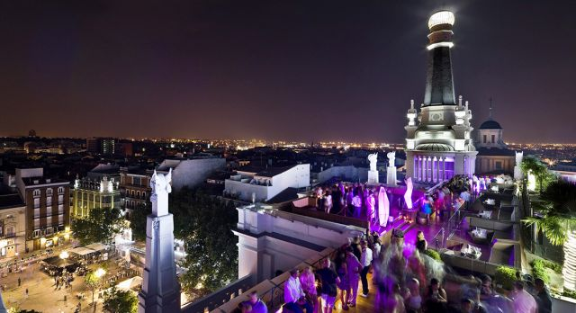 Get the party started on the stunning Hotel ME roof terrace.