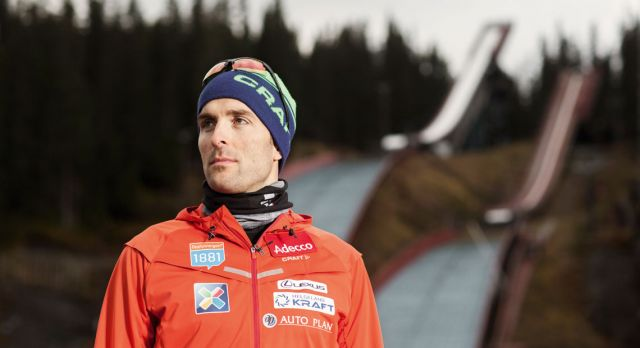 Moan won the Nordic Combined World Cup competition in ­Holmenkollen, Oslo, 2005. Photo: Lena Johnsen