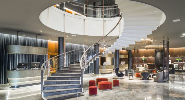 The newly renovated lobby with the famous staircase. Photo: Rickard L. Eriksson