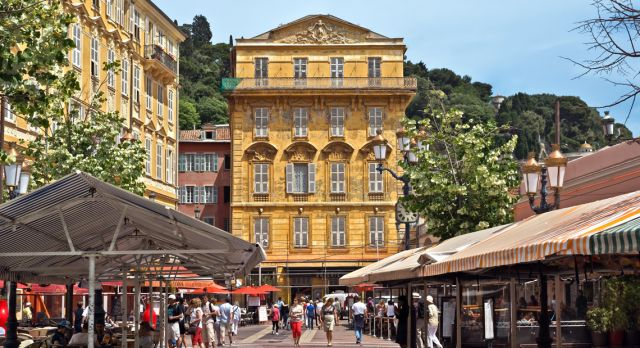The Cours Saleya - a place of outdoor restaurants, boutiques and a market. Photo: Shutterstock