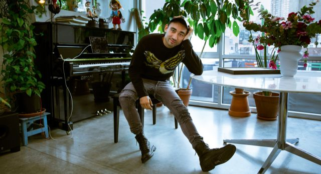 Piano man: Nicola Formichetti has a parallel passion as a classical pianist.Photo: Victor Jones