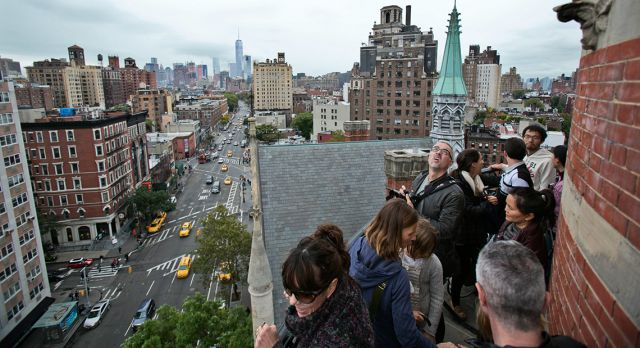 Visitors discover new skylines at the Jefferson Market Library Tower. Photo: Pontus Höök