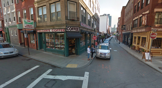 Polpari's Coffee i Salem Street i Boston er kjent for sin gode esporesso. Foto: Google Streetview