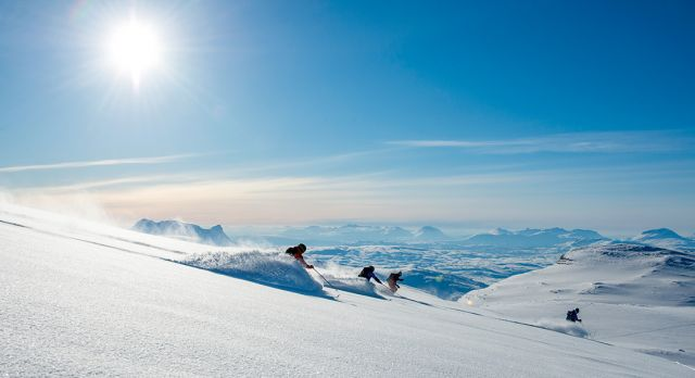 Riksgränsen near the Arctic Circle in Sweden, you come here for the off piste skiing. Photo: Jonas Bilberg