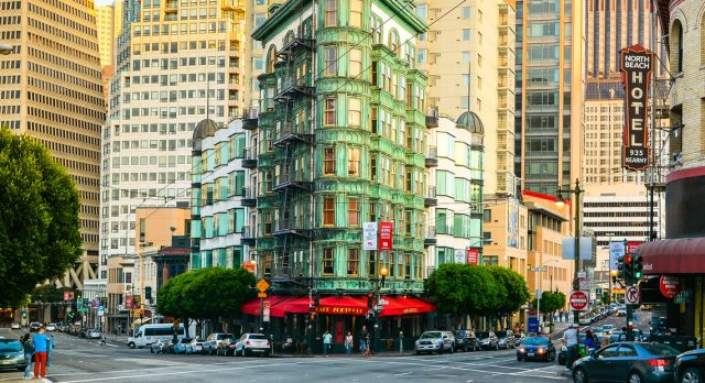 Columbus Tower i North Beach-området, San Francisco. Foto: Shutterstock