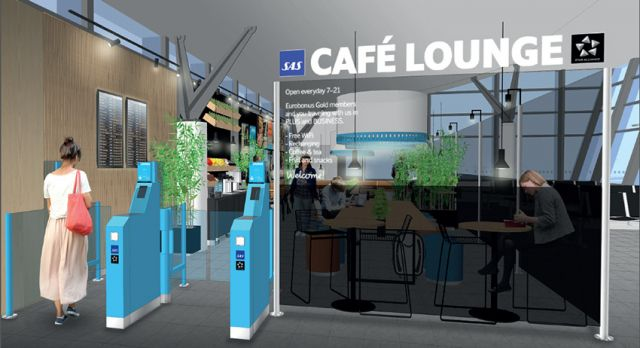 SAS new Café Lounge concept in Norway.