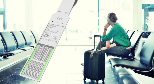 Electronic bag tag could be a common sight in airports in a near future.
