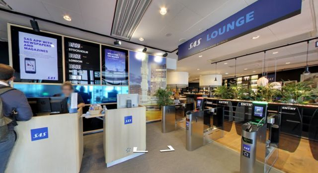SAS's lounges in Google Street View.