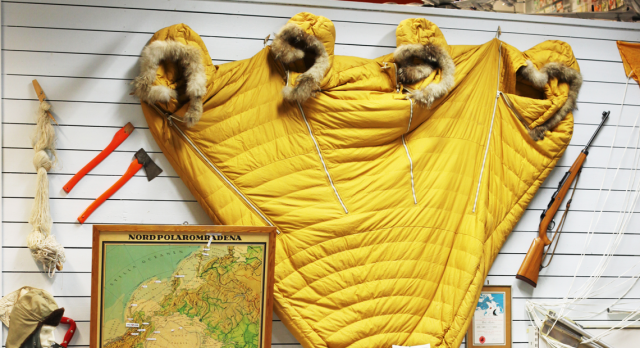 Ever seen a four-person sleeping bag? The Polar route collection is one of SAS museum's highlights.