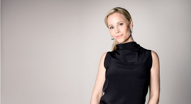 Sofia Helin as Sofia Helin: fearless and all smiles. Photo: Carolina Romare