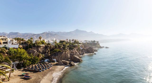 Properties with sea views are sought after in the Costa del Sol region. Like here at Calahonda beach, Nerja. Photo: Gettyimages