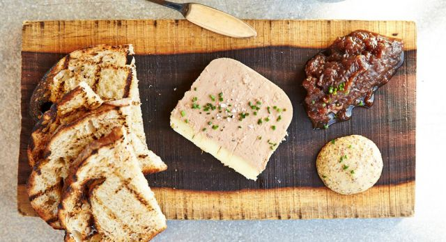 House-made chicken liver pâté at Starbelly