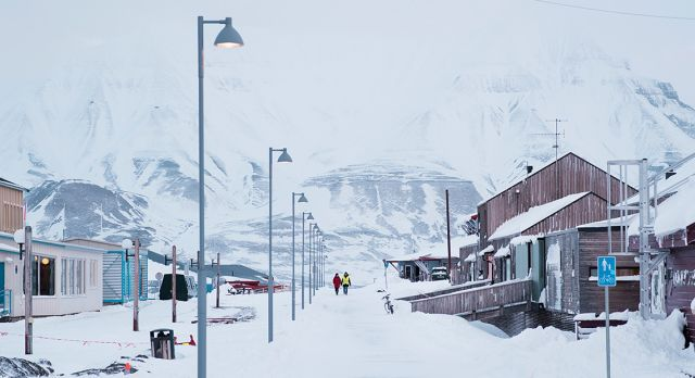 Main Street in Longyearbyen Photo. Erik Abel