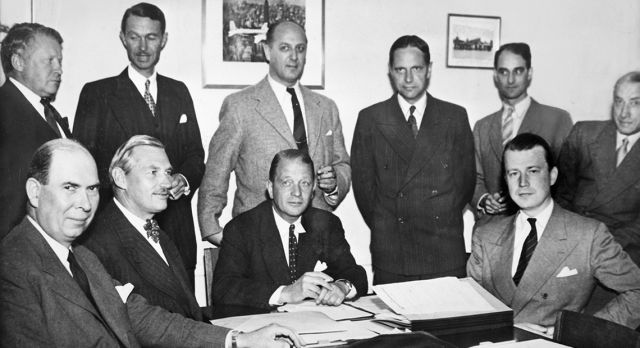 The SAS consortium established by signing agreement August 1946 in Stockholm.