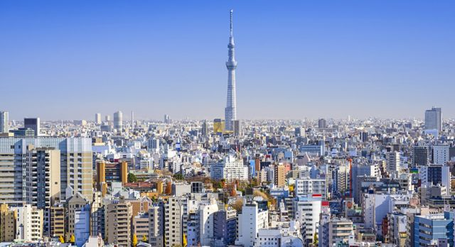 The Tokyo Skytree is the tallest structure in Japan. Photo: Shutterstock
