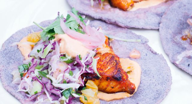 Chicken tortillas with chili mayonnaise Napa-style