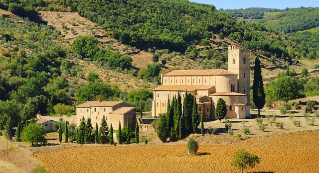 The Abbey of Sant' Antimo.