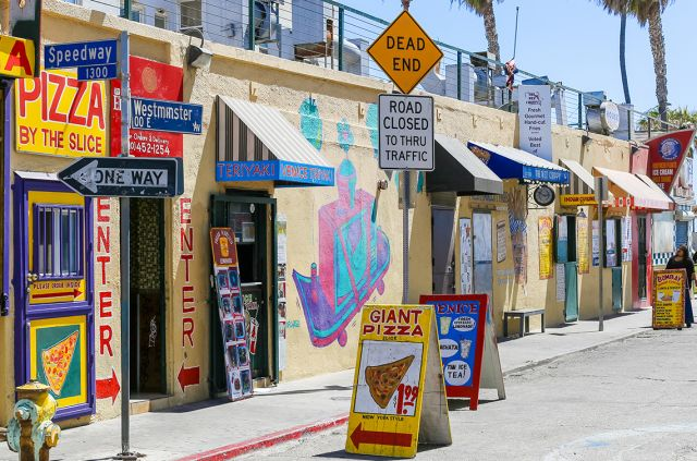 Kooky, perma-tanned, rollerblading Venice Beach never changes. Photo: Shutterstock