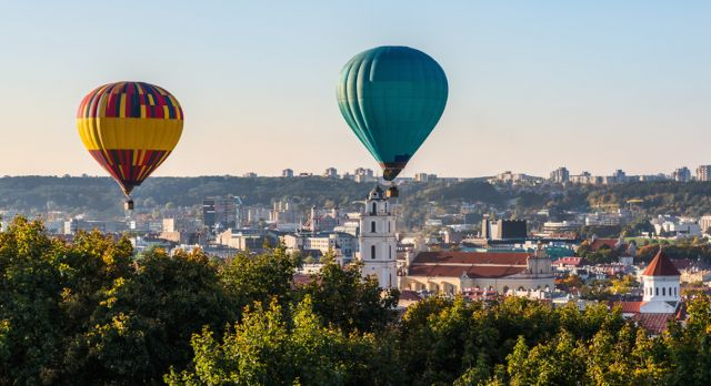 Vilnius is the city that has the most hot air balloons per capita.