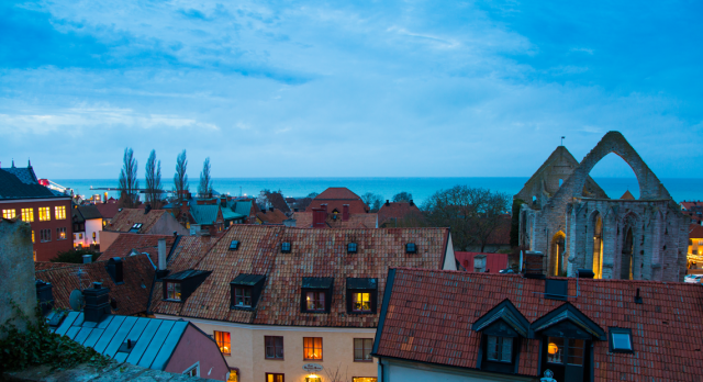 A calm Visby during the winter season. Photo: Jesper Hammarlund