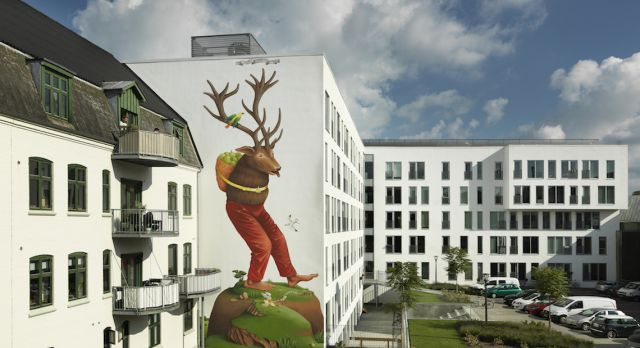 Mural by the Ukranian artist Waone, one part of duo Interezni kaski. Photo: Allan Toft