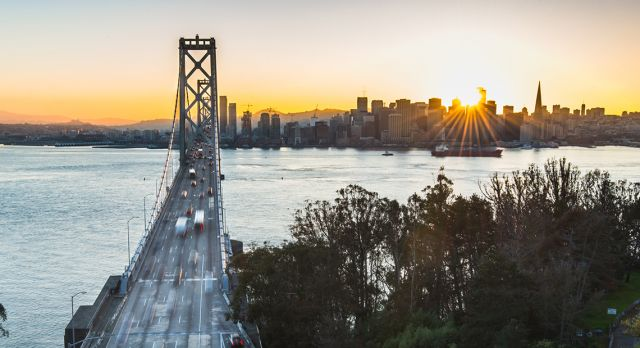 The crisp weather in San Francisco make it the perfect choice for a midwinter getaway. Photo: Shutterstock