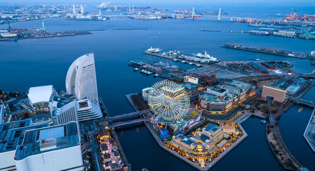 Yokohama's harbourfront. Photo: Shutterstock