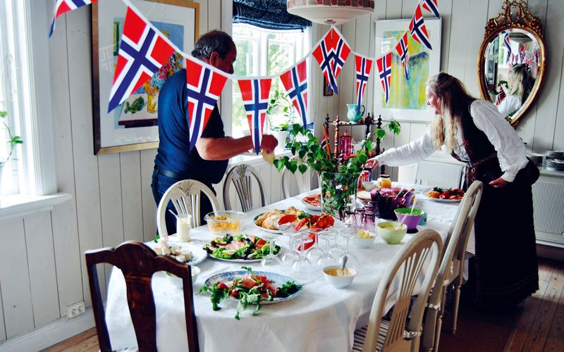 For the older generation, the morning starts with a festive breakfast. Photo: merethe/Foap/Visitnorway