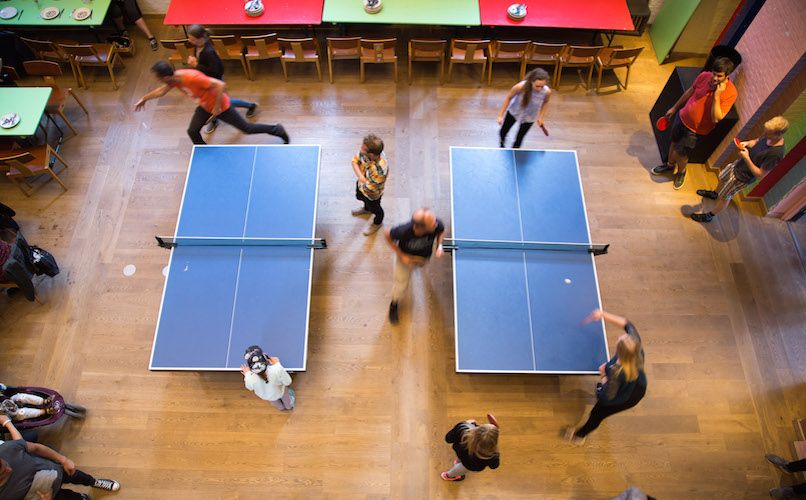 Table tennis at Absalon. Photo: Absalon