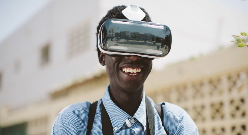 Virtual reality (VR) is explored on the festival, i e. in Afripedia Dance Battle. Photo: CPH:Dox