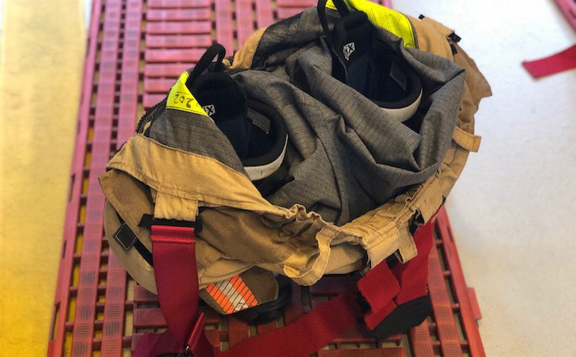 Fireman gear ready. Photo: Lise Hannibal