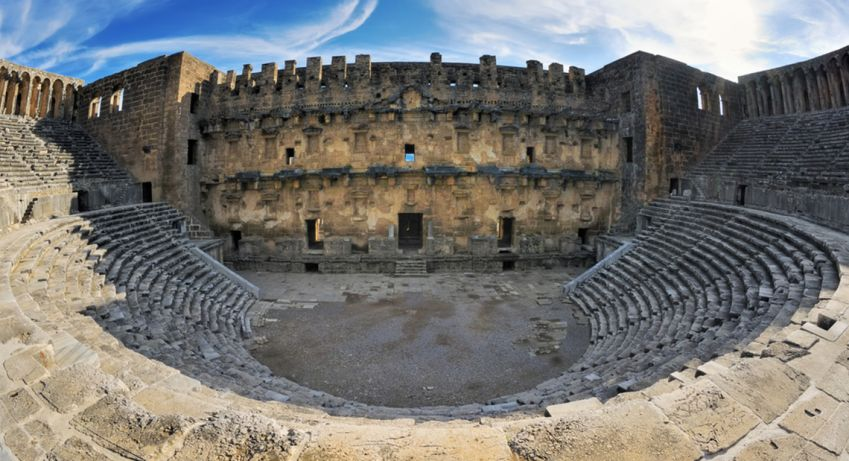 Aspendos, a 2000-year-old and almost completely intact theater located between Side and Alanya. Photo: Shutterstock